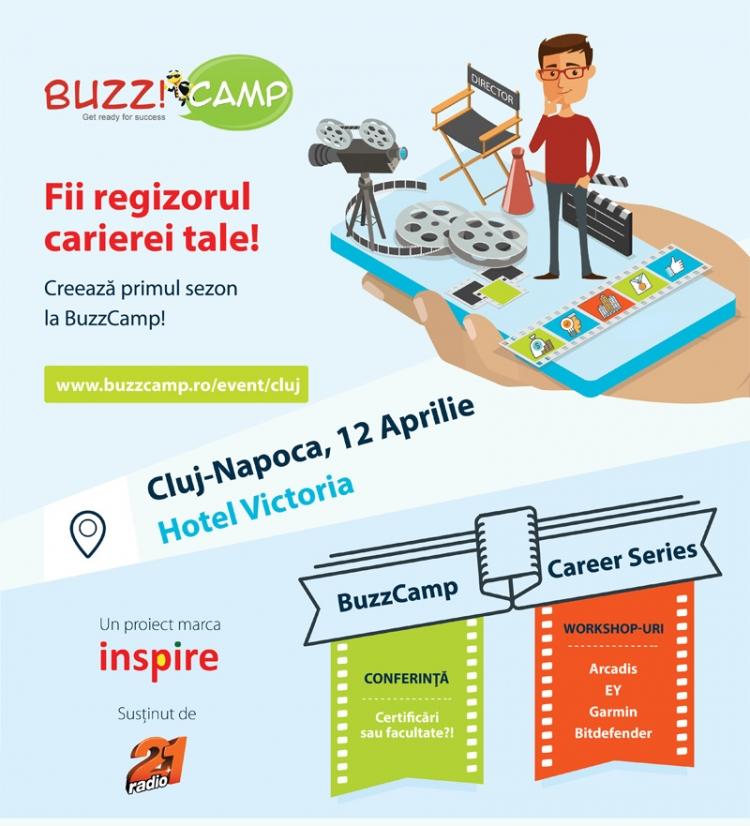 Se apropie Buzz Camp 2016 @ 12 aprilie Hotel Victoria Cluj