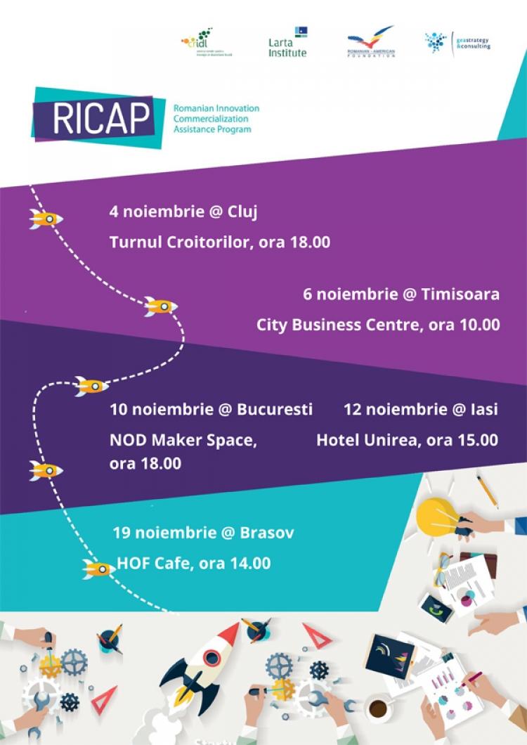 RICAP: mentorat personalizat, acces la resurse despre piata si finantari directe pentru antreprenorii locali