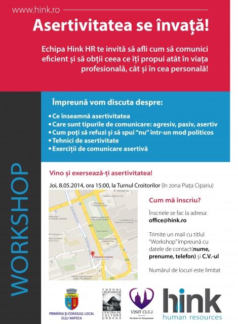 Asertivitatea se invata! Workshop gratuit