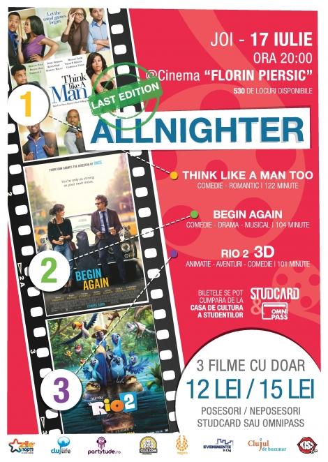 Ultima editie AllNighter din acest an universitar vine cu surprize