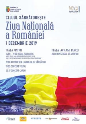 Programul de Ziua Nationala a Romaniei sarbatorita la Cluj-Napoca