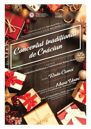 Invitatie la Concertul Traditional de Craciun, sustinut de Orchestra Simfonica a UBB