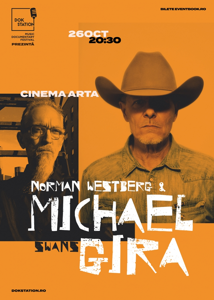 DokStation pop-up event la Cluj: concert Michael Gira & Norman Westberg si proiectie Swans: Where Does A Body End?