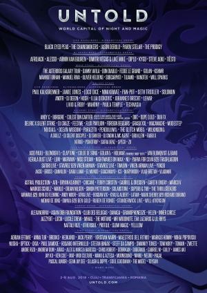 Line'up'ul UNTOLD 2018 este completat de inca 130 artisti!