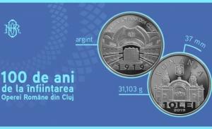 """Va fi lansata moneda de argint cu tema """"100 de ani de la infiintarea Operei Romane din Cluj"""""""