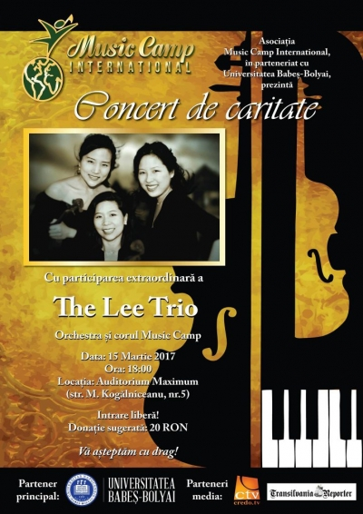 The Lee Trio va sustine un concert de caritate in Cluj
