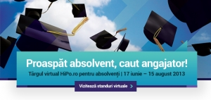 200 de joburi entry-level, programe de internship & management trainee te asteapta la Targul Virtual Hipo pentru absolventi