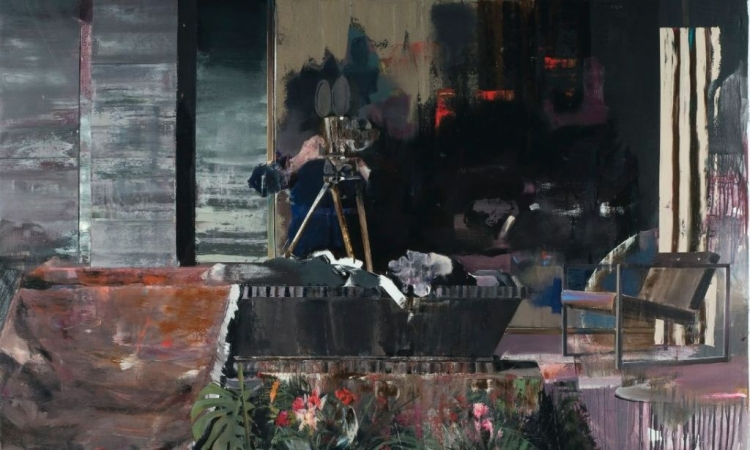 """Tabloul """"Funeraliile lui Duchamp"""" semnat de un fost student UAD Cluj a fost vandut cu 4.3 milioane de lire sterline"""