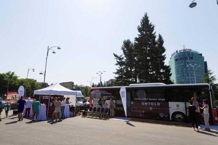 Caravana mobila Blood Network vine in Piata Uniirii din Cluj intre 15 - 17 iulie
