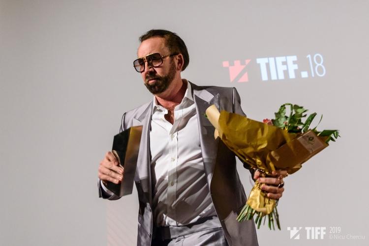 """Nicolas Cage a fost premiat la TIFF 2019 cu """"Trofeul Transilvania pentru Contributia Adusa Cinematografiei Mondiale"""""""
