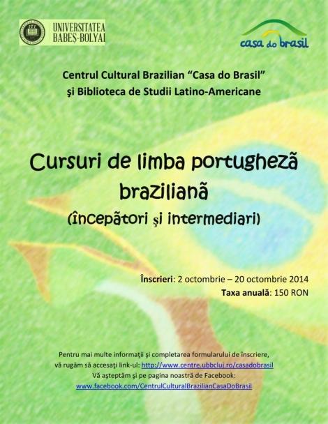 Casa do Brasil organizeaza cursuri de portugheza pentru studenti