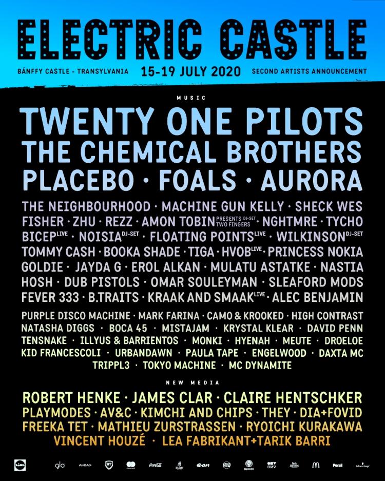 Vestile bune vin de la Electric Castle: The Chemical Brothers, Placebo, Aurora si Machine Gun Kelly printre zeci de noi artisti confirmati