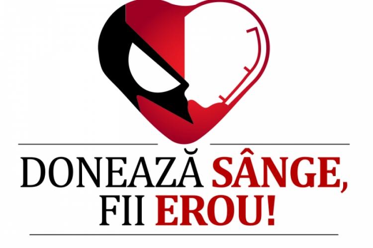 "Proiectul ""Doneaza sange! Fii erou!"" organizeaza o noua campanie de donare de sange la Cluj-Napoca"