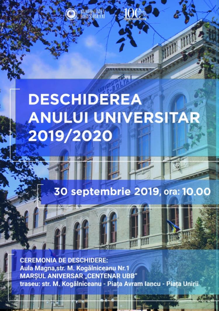 UBB implineste un secol de la fondarea ca universitate romaneasca - invitatie la Ceremonia de Deschidere