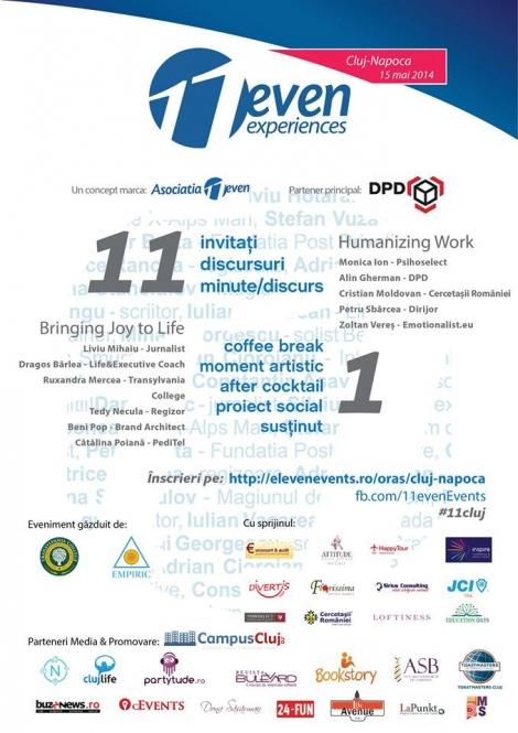 11even Experiences - conferinta cu si despre oameni, 15 mai 2014
