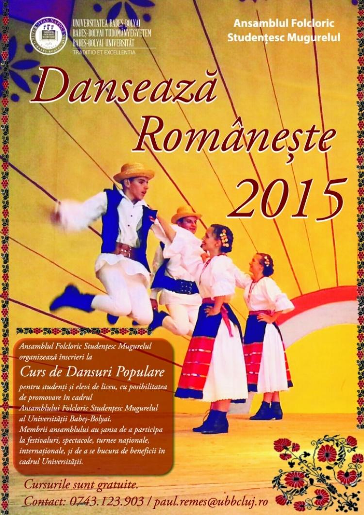 """Ansamblul Folcloric Studentesc Mugurelul organizeaza inscrieri la """"Cursul de Dansuri Populare"""""""