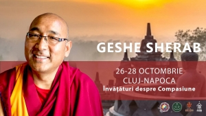 Geshe Sherab va tine prelegeri la Cluj pe tema Compasiunii