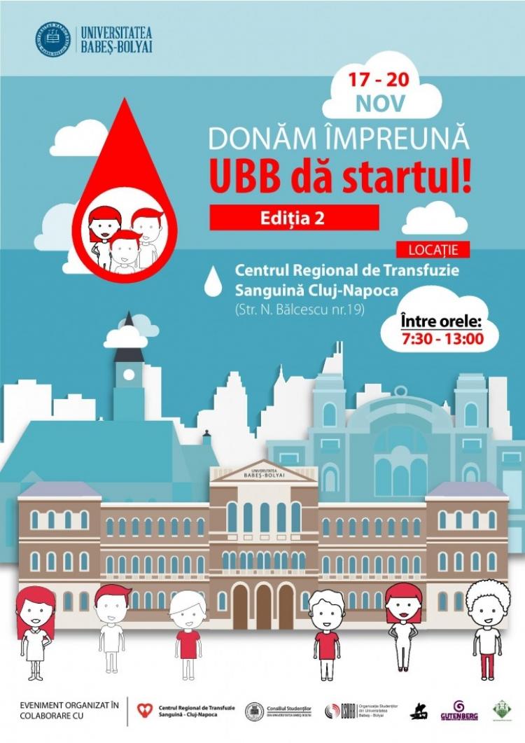 """Donam impreuna, UBB da startul"" - a doua campanie de donare de sange"