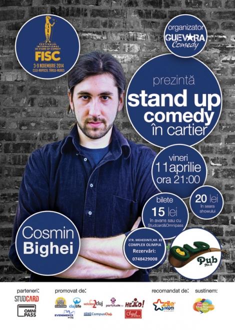 Stand up comedy in Cartier cu Cosmin Bighei @ 11 aprilie Old Pub no.2