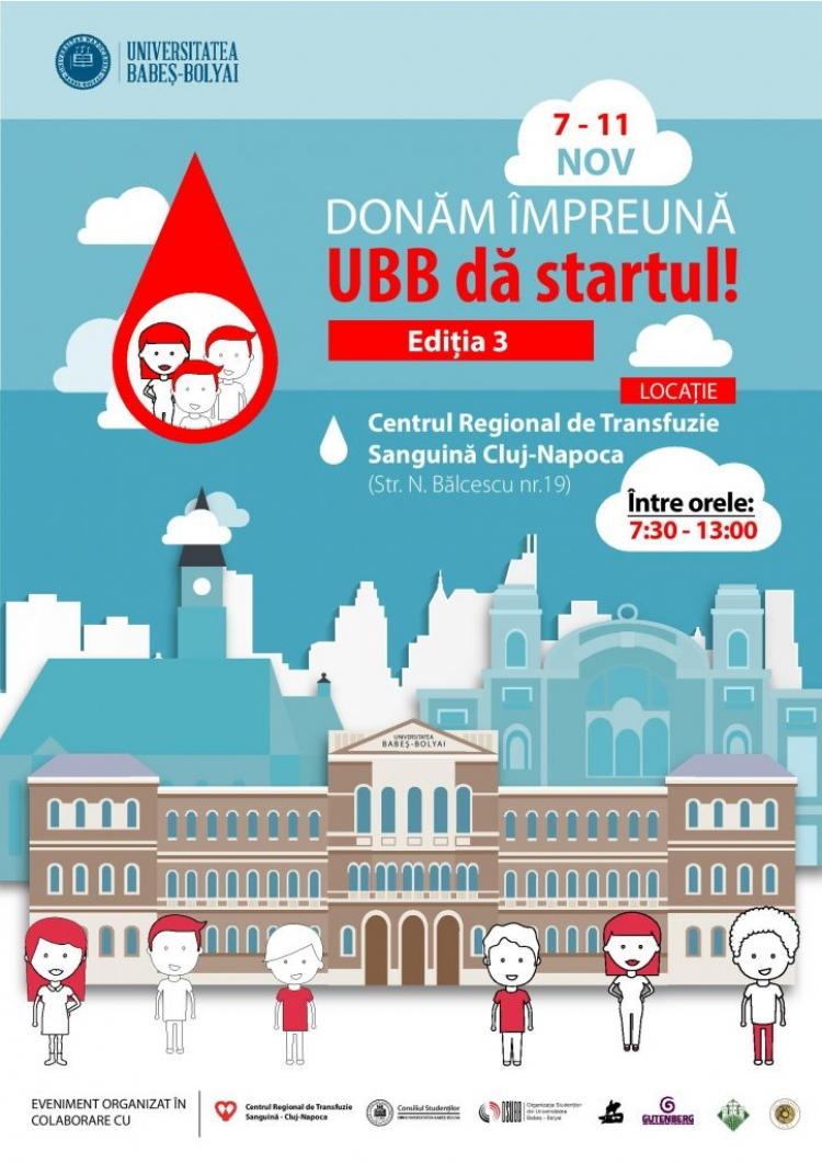 """Donam impreuna, UBB da startul!"" - campanie adresata studentilor si cadrelor universitare"