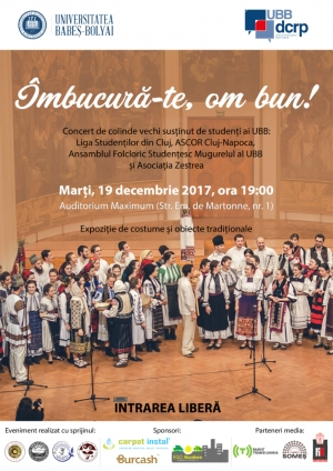 "Intrare libera la colinde: UBB te invita la concertul de colinde ""Imbucura-te, om bun!"""