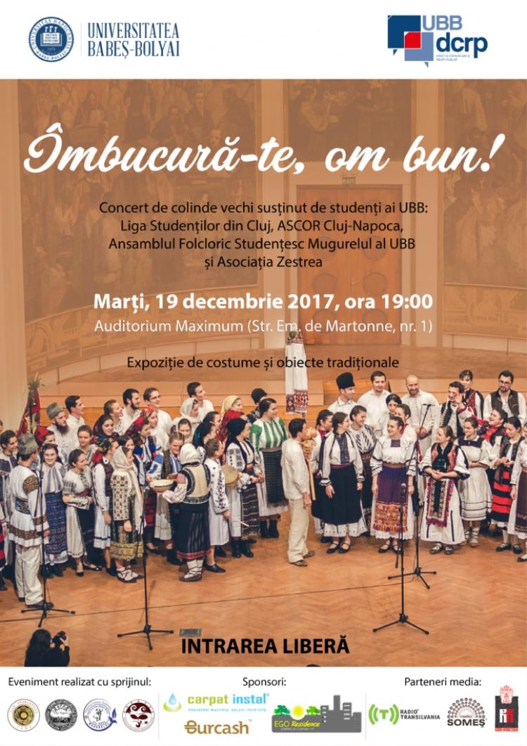 "Intrare libera la colinde: UBB te invita la concertul de colinde ""Imbucura-te, om bun!"""