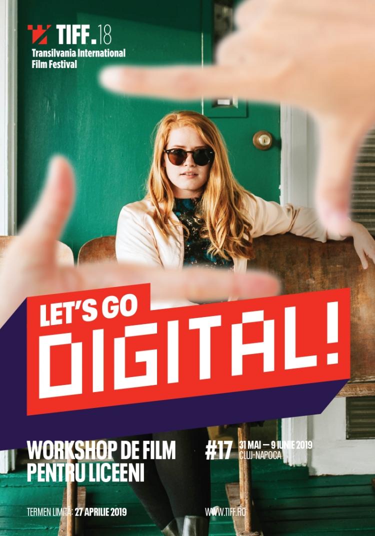 Start inscrierilor la atelierul de film pentru adolescenti Let'sGo Digital! 2019