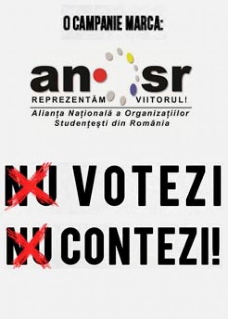 """Nu votezi, Nu contezi!"" - campania ANOSR prin care tinerii sunt chemati la vot"