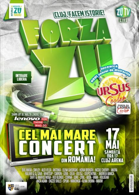 FORZA ZU - cel mai mare concert din Romania @ 17 mai Cluj Arena