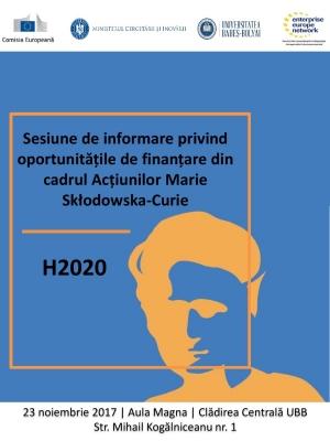 UBB organizeaza o sesiune de informare privind oportunitatile de finantare din cadrul Actiunilor Marie Sklodowska-Curie