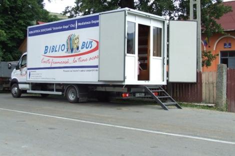 Prima biblioteca mobila din Cluj va functiona in fiecare miercuri