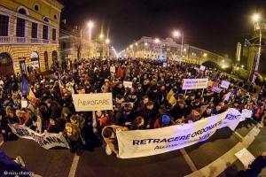 Numar record de protestatari la Cluj si in toata tara