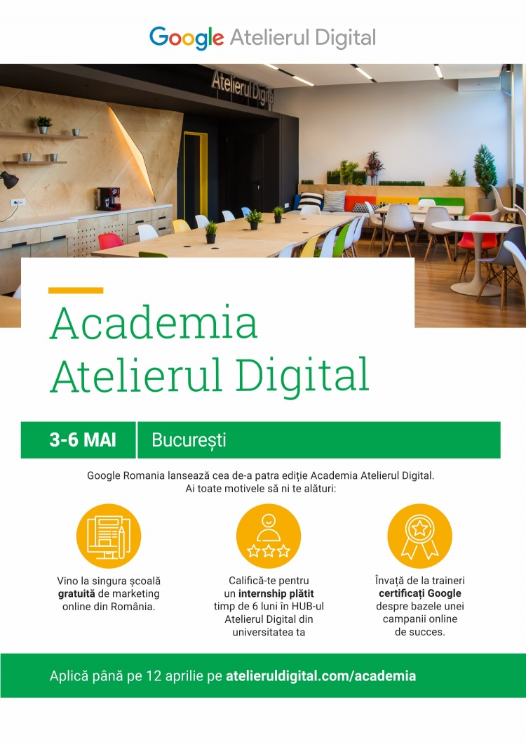 Specialistii Google invata studentii marketing la Academia Atelierul Digital.