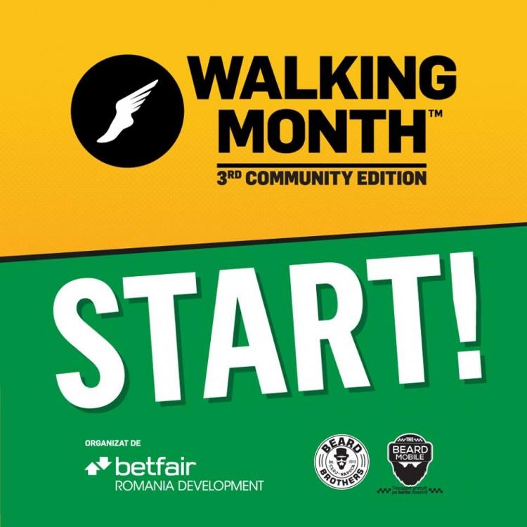 Concursul caritabil Walking Month incepe astazi