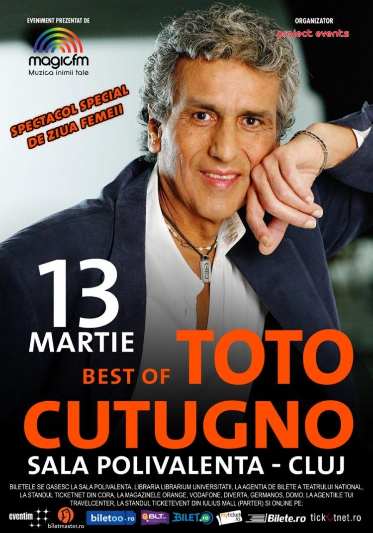 Concert Toto Cutugno in luna martie - cadoul ideal pentru Ziua Femeii