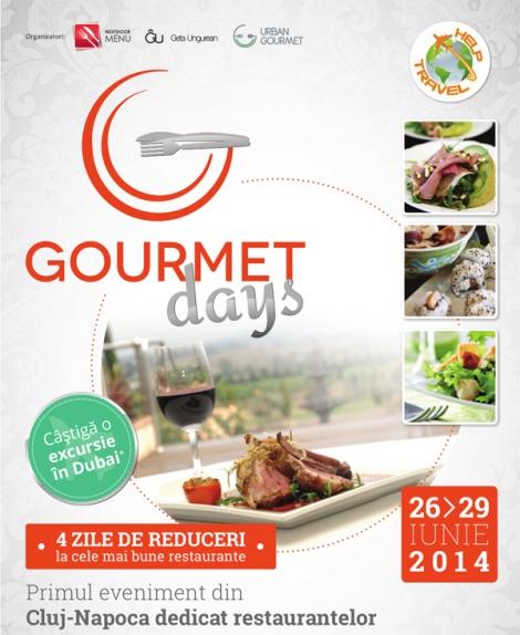 Gourmet Days - primul eveniment dedicat restaurantelor din Cluj @ 26 - 29 iunie