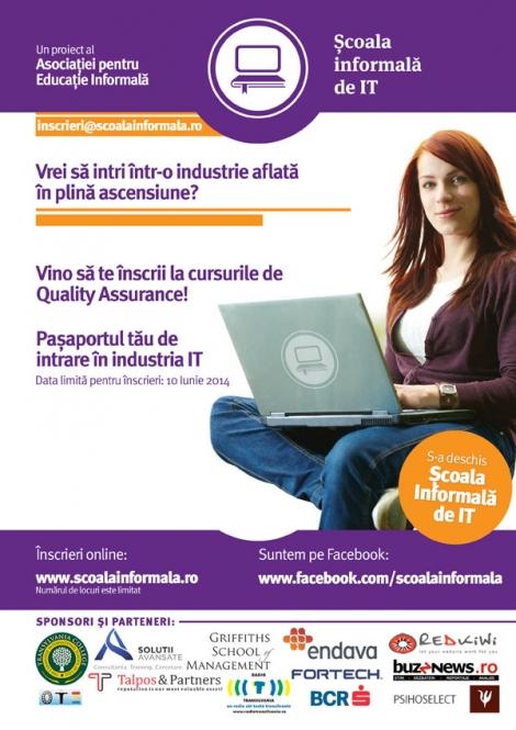 Lansarea primei scoli informale de IT din Transilvania