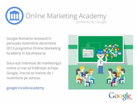 Cursuri Google Academy pentru studentii pasionati de online