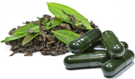 Ceaiul verde si capsulele cu extracte din ceai