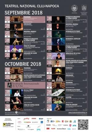 Stagiunea 2018 – 2019 la Teatrul National Cluj-Napoca va debuta pe 23 septembrie