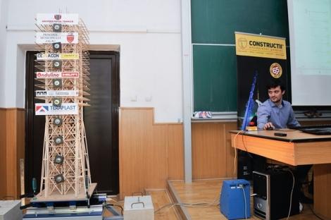 Studentii UTCN vor participa la un concurs in SUA cu o macheta rezistenta la un cutremur de 10 grade