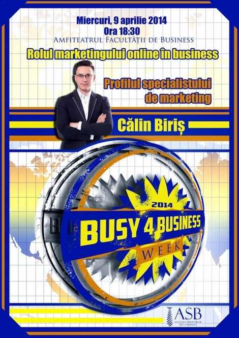 CALIN BIRIS la Busy 4 Business Week