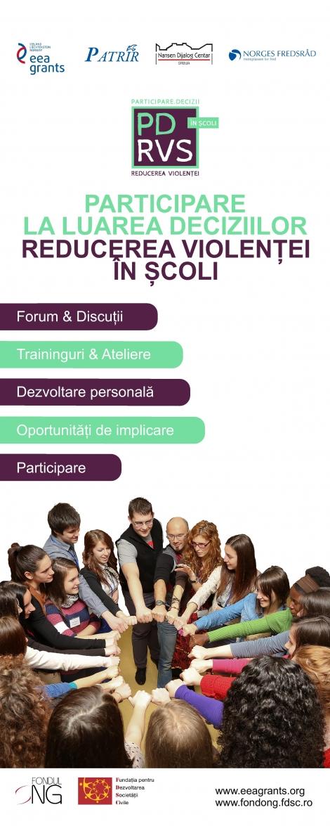 """Lansarea Proiectului """"Participarea la luarea deciziilor. Reducerea Violentei în Scoli. """""""