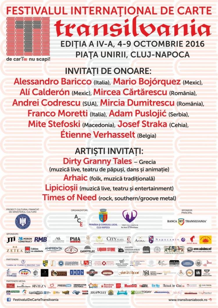 Iubitorii de carti sunt invitati la Festivalul International de Carte Transilvania