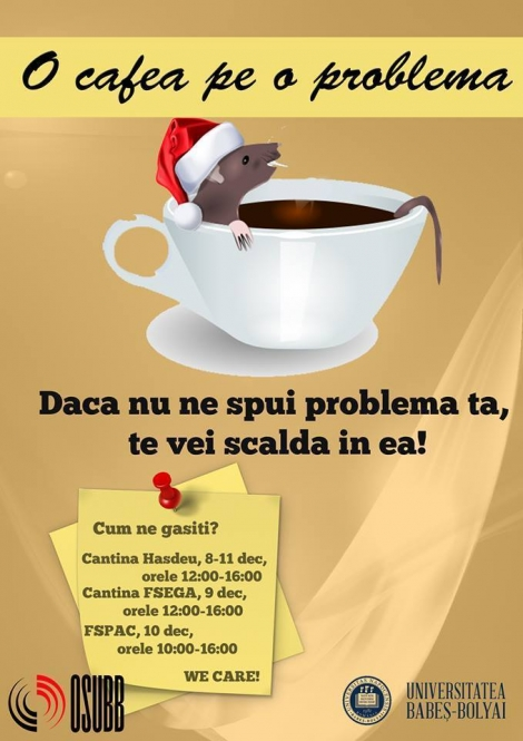 O cafea pe o problema! O intitiativa OSUBB
