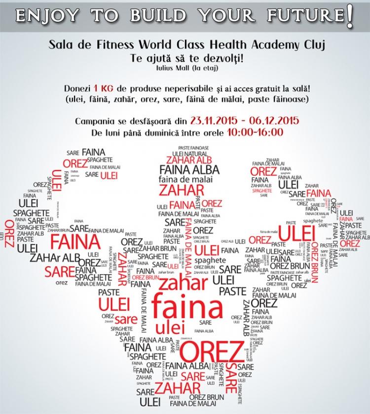 Donezi alimente si faci Fitness gratis la World Class Health