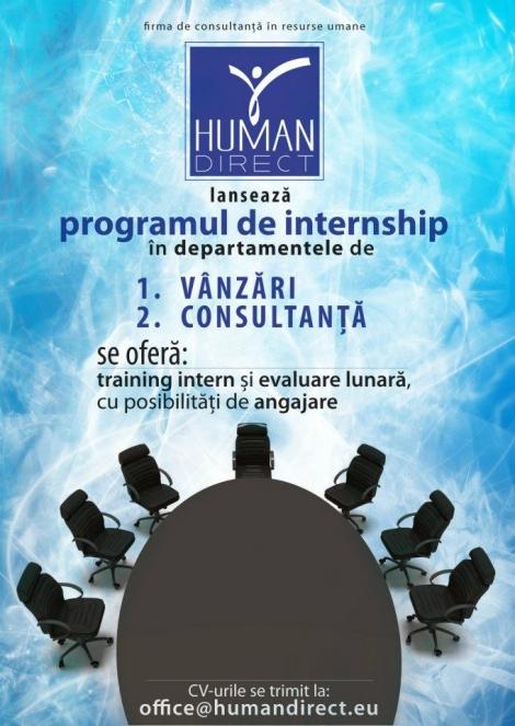 Human Direct recruteaza tineri pasionati de Psihologie Organizationala
