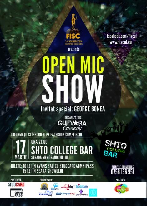 FISC prezinta conceptul Open Mic Show @ 17 martie Shto College Bar