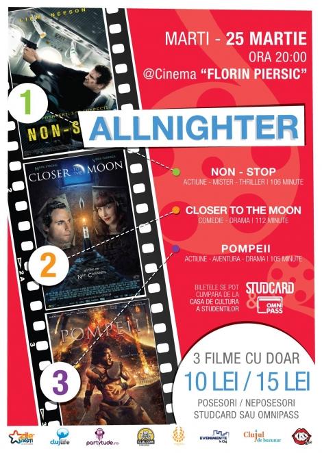 Trei filme la pret de unul la Cinema Florin Piersic in 25 martie
