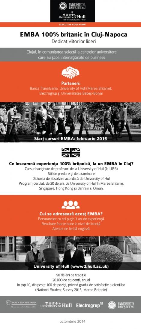 Din februarie va fi disponibil un EMBA 100% britanic in Cluj